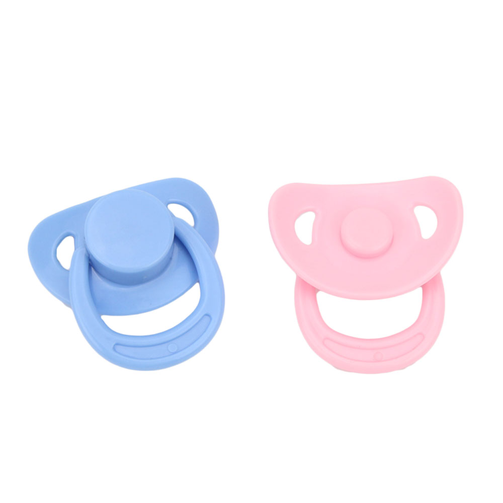 Magnetic Pacifier For Reborn Baby Dolls 2 Pcs Pink Blue White