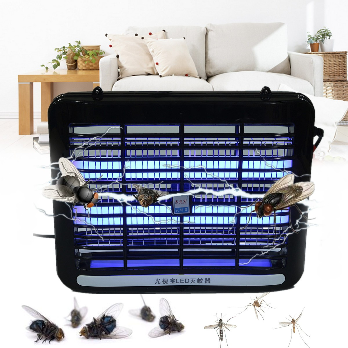 220v Electronic Indoor Bedroom Mosquito Killer Repellent Lamp Insect Bugzapper1 Circuit Schematic Diagram 2w Electric Repeller Led Night Light Killing Pest Bug