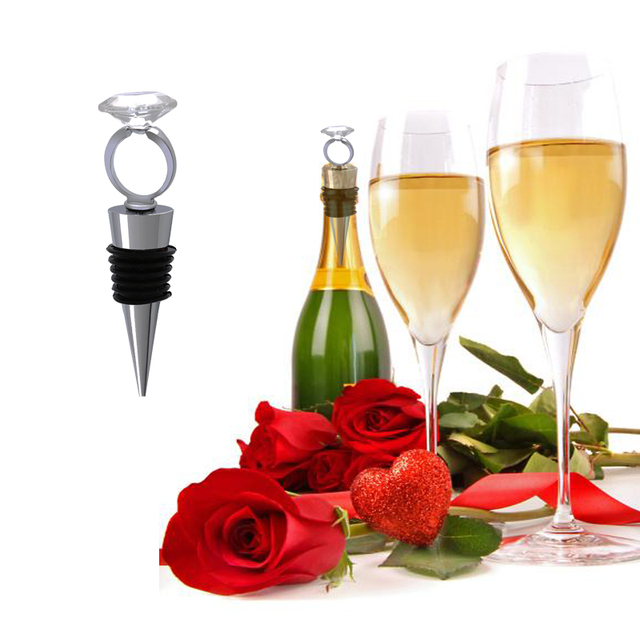 New Stylish Diamond Ring Design Stainless Wine Stoppers Wedding Home ...
