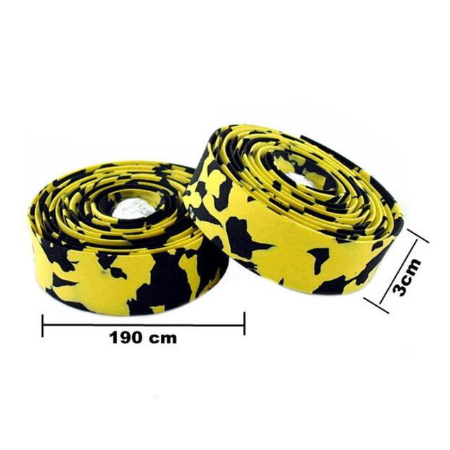 Bike handlebar Belt Sweat Absorbent Non Slip Colorful Cycling Handle Belt Bike Bicycle Cork Handlebar Tape Wrap +2 Bar HC0103 1