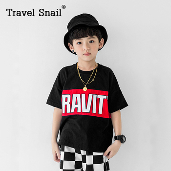 Travel snail kids clothes boys t-shirts or shorts 2018 New boys t-shirt for boys children shorts cotton 100cm-160cm Summer
