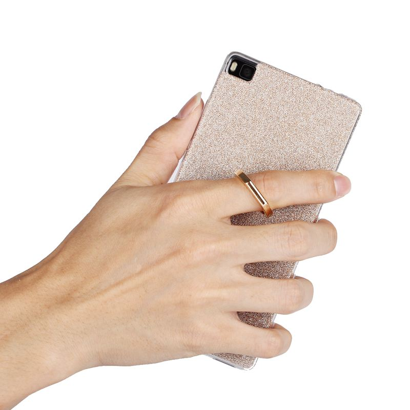 For Huawei P8 P8 Lite Case Transparent Soft TPU Case Glitter Metal Ring Back Cover For Huawei P9 P9 Lite P9 Plus Shockproof Capa