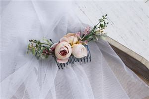Image 4 - Vintage Wedding Headband Flower Wedding Hair Comb Bohemia Wedding Jewelry Handmade Hair Pieces for Women  Flower Headwear HD26