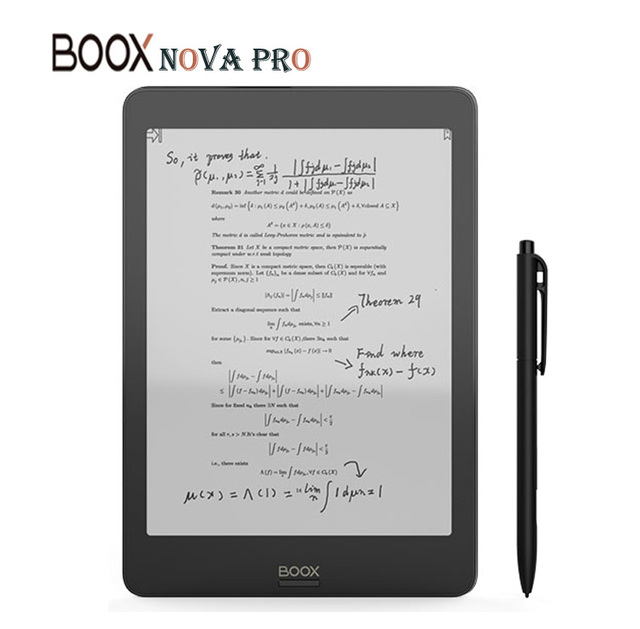 ONYX BOOX NOVA PRO e-Book Reader The First Versatile eReader 2G/32G Contains Dual Touch and Front Light Flat screen eBook Reader