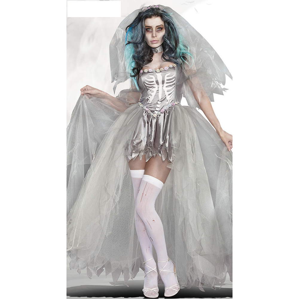 Online kopen wholesale zombie trouwjurk uit china zombie for Sexy wedding dress costume
