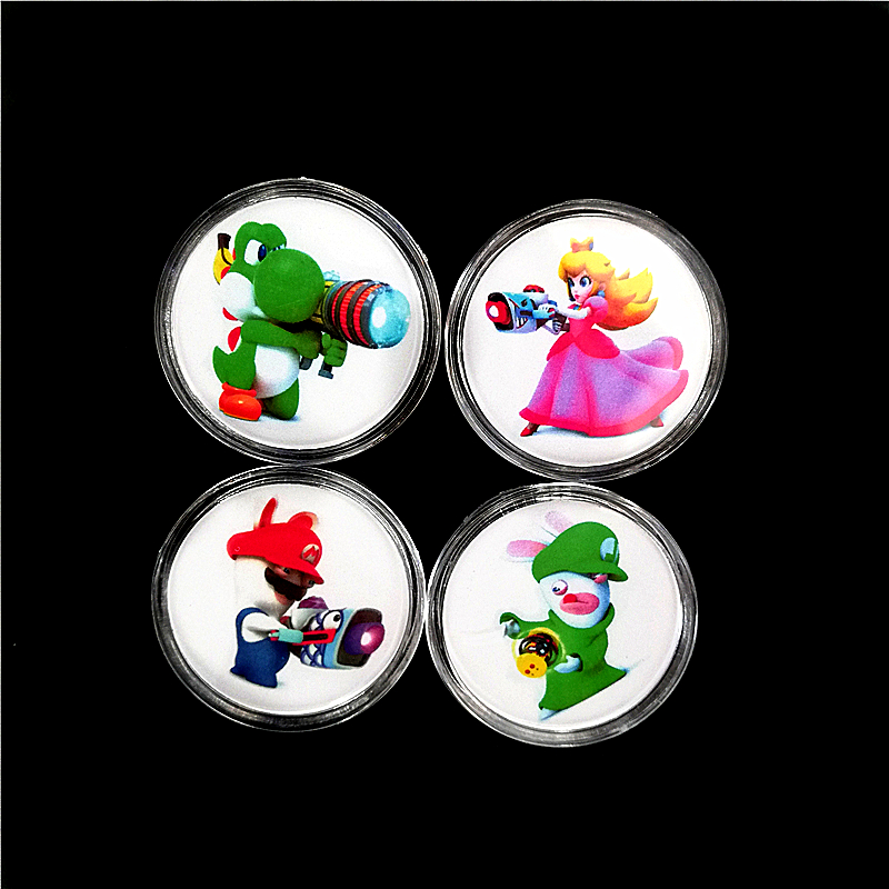 Full Set 4Pcs Mario + Rabbids Kingdom Battle NFC Card Of Amiibo Collection Coin Tag NTAG215 For NS/Switch Zelda Splatoon Kart