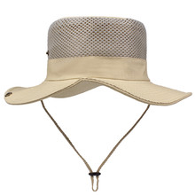 Модная летняя уличная шляпа от солнца, сетчатая шляпа Boonie, сушильная Рыболовная Шапка