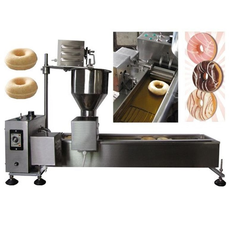 Donut Fryer Machine 110V 220V Automatic Donut Machinery Electric Cake Commercial Donut Maker commercial 5l churro maker machine including 6l fryer