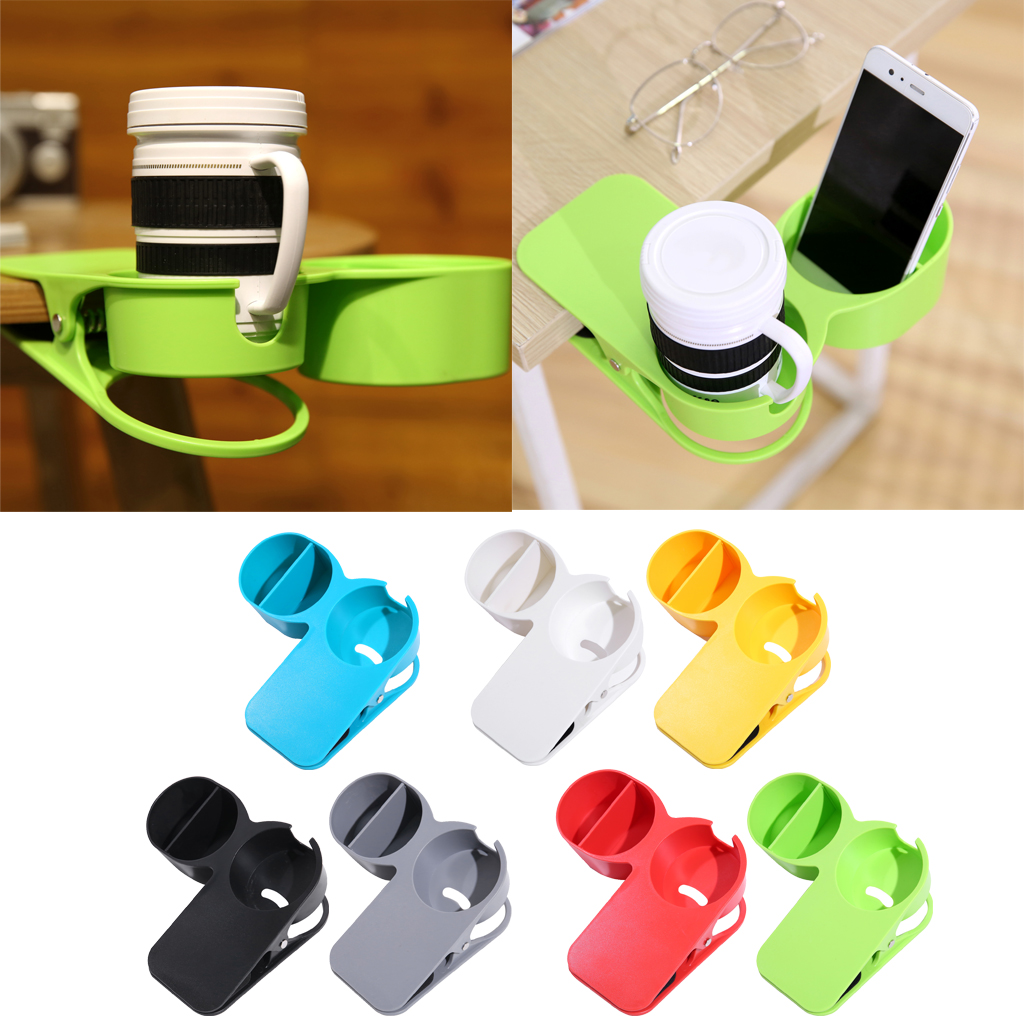 Multifunctional Cup Holder Coffee Tea Cups Mugs Holders Clamping On Desk Table Side For Home Office