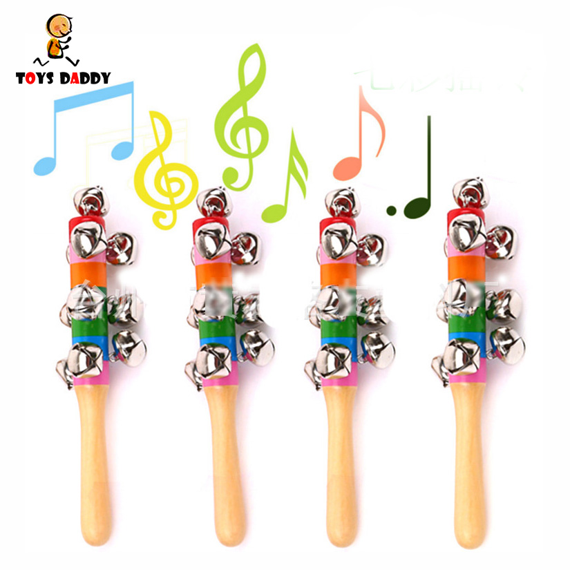 Plastic Baby Hand Shake Bell Ring Rattles Toys Baby Educational Aromatic Flavor Toys For Baby