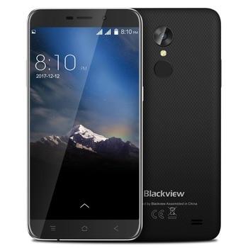 Blackview A10 Original  5.0″ Mobile Phone HD 18:9 2GB+16GB Android 7.0 Quad Core Fingerprint ID 2800mAh 3G Ultra-Slim Smartphone