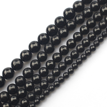 round natural jet beads natural stone beads DIY loose beads for jewelry making strand 15″ free shipping wholesale !