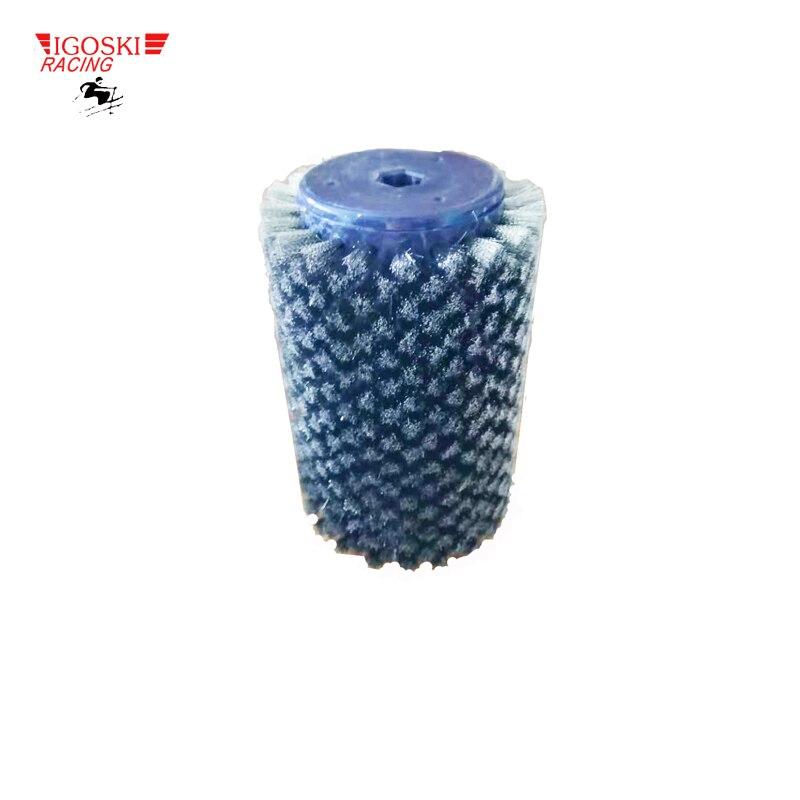 Brosse à Roto en fil d'acier inoxydable IGOSKI pour l'épilation à la cire de Ski de fond convient à un arbre hexagonal de 10mm