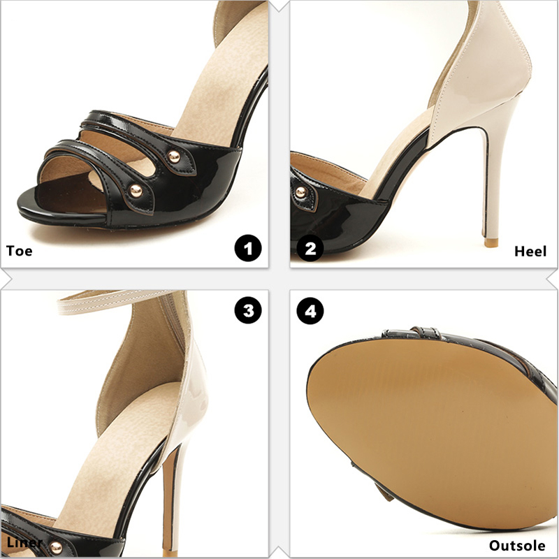 Size Rosso Big Toe Party Donna Sandali 2018 New Open Shoes Stiletto Wetkiss High Blu Heels Ladies Rivet Super Summer Nero Zipper w4Ax1RaqT