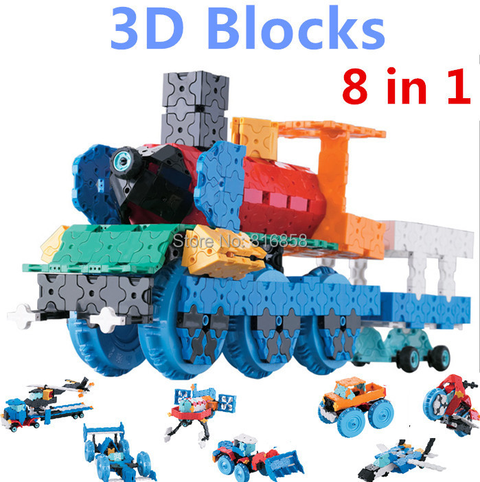 850pcs set Hot Creative LaQ Style 3D Blocks Wizard Model Building Blocks 8 in 1 Cars