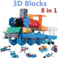 850pcs/set! Hot Creative LaQ Style 3D Blocks Wizard Model Building Blocks 8 in 1 Cars Set Educational Toys Boys Toys brinquedos