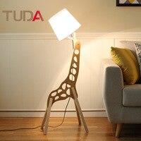 TUDA Logs Modern Minimalist Table Lamp Living Room Creative Floor Lamp Hotel Bedroom Solid Wood Floor Lamp
