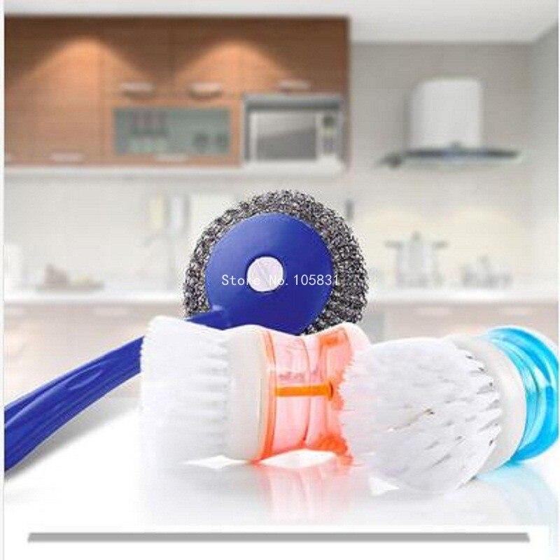 Creativo plástico hidráulico cocina cacerola cepillo de limpieza cepillo de mang