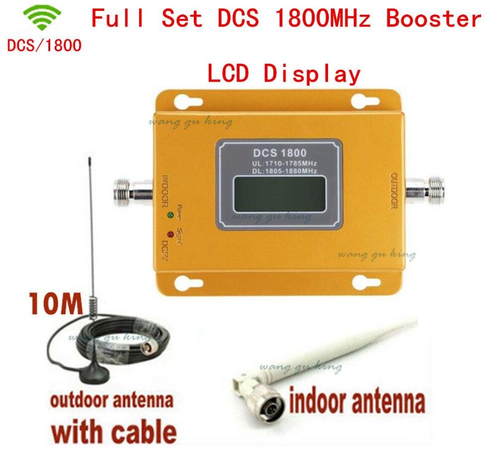 Le plus nouveau Mini 70dB LCD 2G 4G LTE GSM DCS 1800 MHz répéteur de Signal de téléphone portable, amplificateur de signal cellulaire avec anten extérieur intérieur
