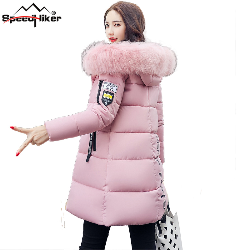 Speed Hiker Winter jacket Women 2017 Mid-long Thicken Warm cotton-padded Down Parkas Coat Faux Fur Collar Hooded Jacket for girl - China Cheap Products