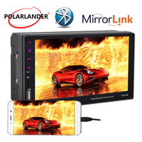 7Remote Control Stereo Car MP5 Player 2Din Bluetooth For Andriod USB/FM/Aux Handfree With Camera Touch Screen Radio Mirror Link