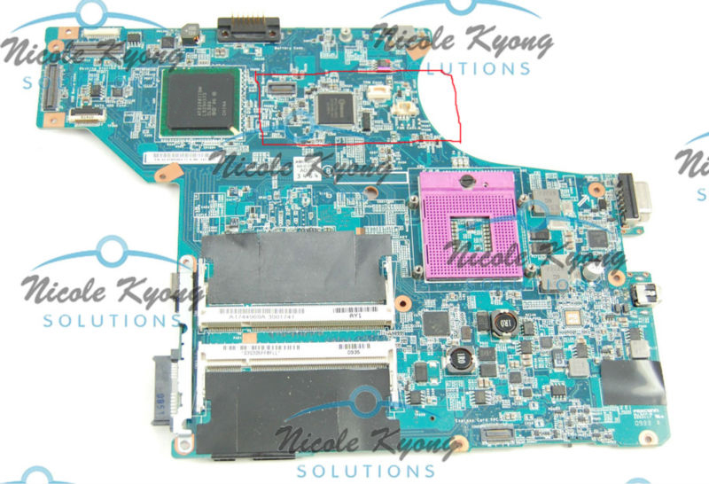 M753L MBX-190 Rev 1.1 A1703238A 1P-0092J00-8011 Integrated MotherBoard for Sony Vaio VGN-SR Series SR490 VGN-SR490DDB VGN-SR410J new notebook laptop keyboard for sony vgn bz vgn bz11xn series sp layout