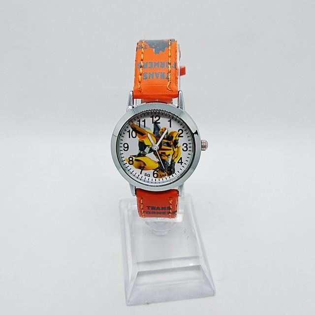 Anime Yellow robot transformers Children Quartz Watch Fashion Brand Kids Watches