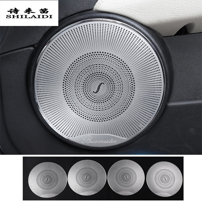 Car Styling Audio Speaker Car Front Rear Door Loudspeaker Trim Cover Sticker For Mercedes Benz C Class W204 Interior Accessories