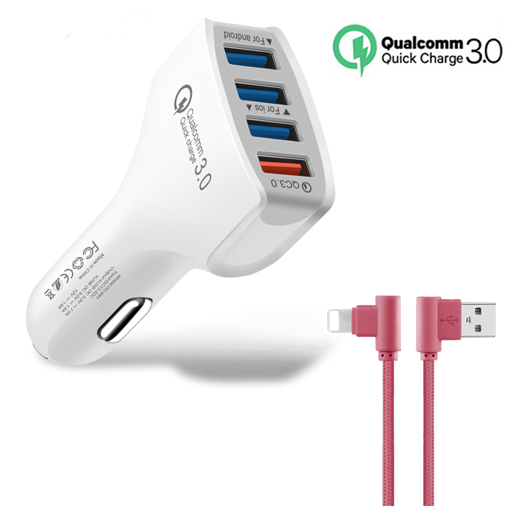 Cellphones & Telecommunications Rapture Powerful Usb Qc3.0 Car Charger Fast/quick Charge 3.0 Smart Phone Car-charger Adaptive For Xiaomi Iphone 7 8 X Samsung S8 Ipad Car Chargers
