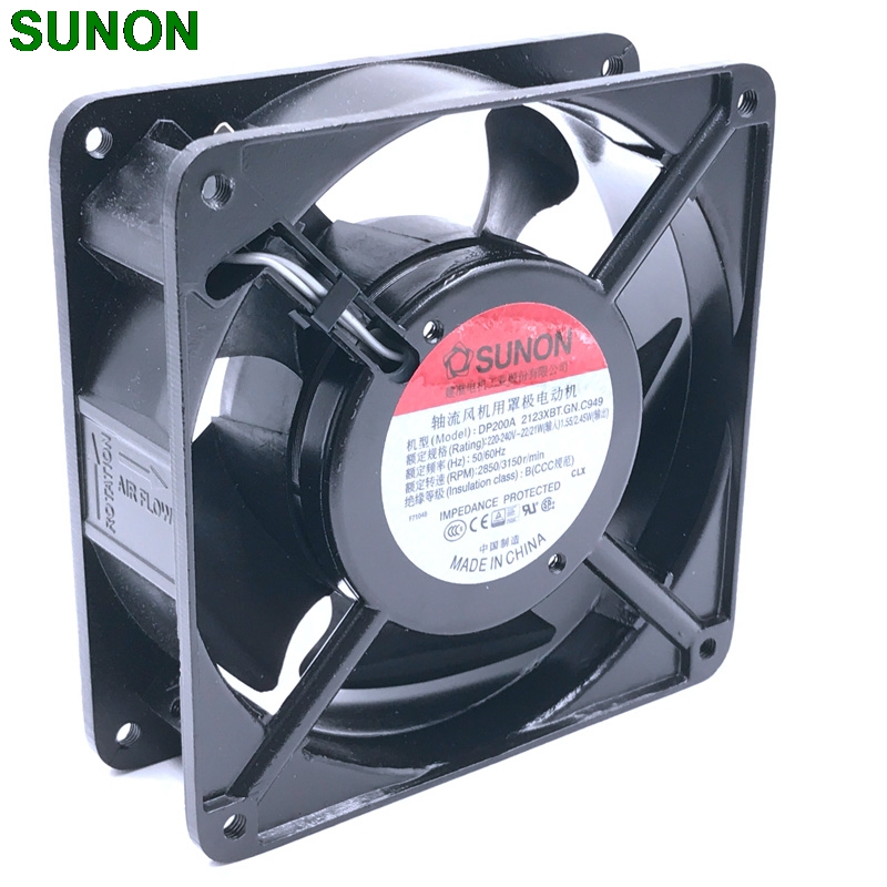 Original blower SUNON DP200A 2123XBT.GN 12CM 120*120*38MM 12038  220V socket case industrial cooling fan original delta ffb1224she 12cm 120mm 12038 120 120 38mm 24v 1 20a cooling fan