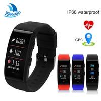 Yuanhang Smart GPS Sports Bracelet IP68 Waterproof Tracker Smart Fitness Band Heart Rate Blood Pressure Monitor