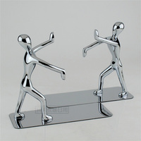 Fashion Stainless Steel Bookends Gift Kung Fu Bookshelf Bookend Home Decoration
