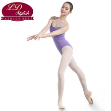 Adults Purple Ballet Training Leotards Practice Clothing Girls Stage Performance Competition Dance Skirt Female Practice Dresses