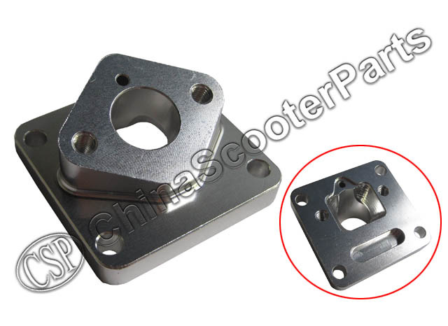 CNC 15MM Alu Intake Manifold 47CC 49CC 2 Stroke Engines  Mini Moto ATV Quad Dirt Pit Pocket bike Parts
