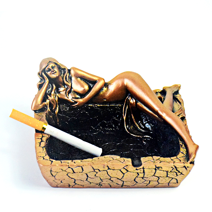 Ashtray Sexy Beauty Girls Creative Cigar Smoking Accessories For Living Room Crafts Desk Desk Decoration Boyfriend Gift