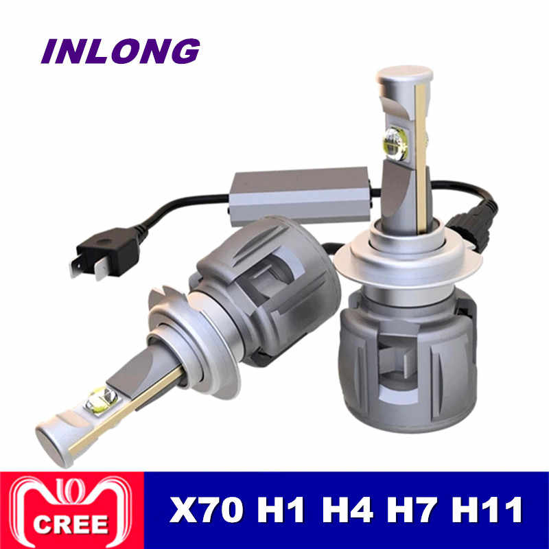 INLONG X70 H7 H1 9005 9006 Car H4 LED Headlight Bulb H11 H8 D1S D2S D4S hp Led Lamp Chip 120W 15600LM  Headlamp Fog Lights 6000K