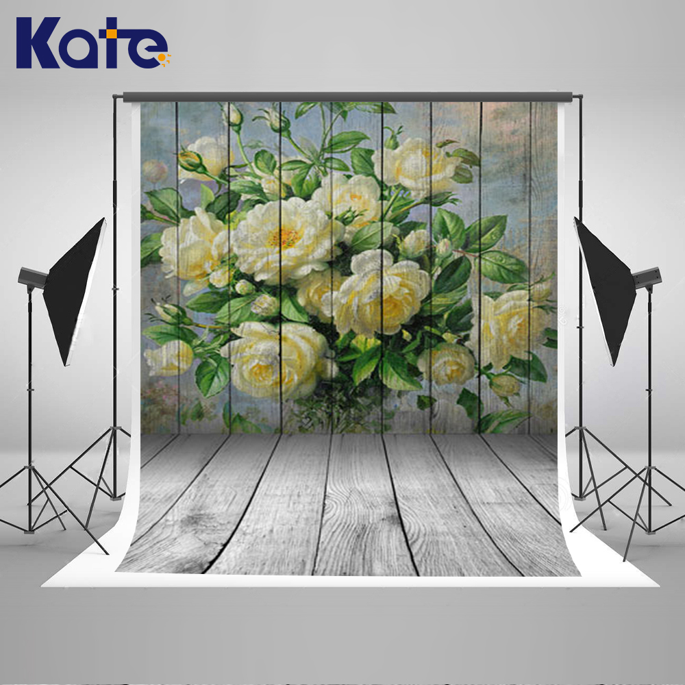 Kate Happy Mothers Day Photography Backdrops Yellow Bouquet Backgrounds  White Wood Wall Backgrounds Large Size Seamless Photo