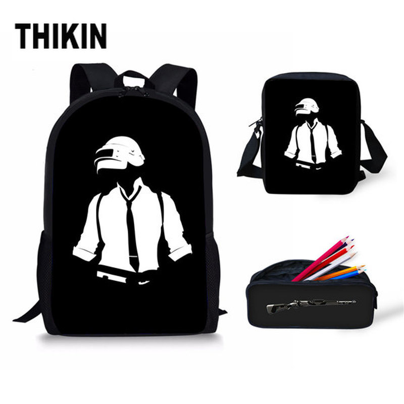 THIKIN Game Player Unknown's Battlegrounds Backpacks School Bags PUBG Backpack For Boyfriend Game Fans Shoulder Bag Rucksack