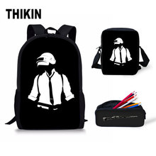 THIKIN Game Player Unknowns Battlegrounds Backpacks School Bags PUBG Backpack for Boyfriend Fans Shoulder Bag Rucksack
