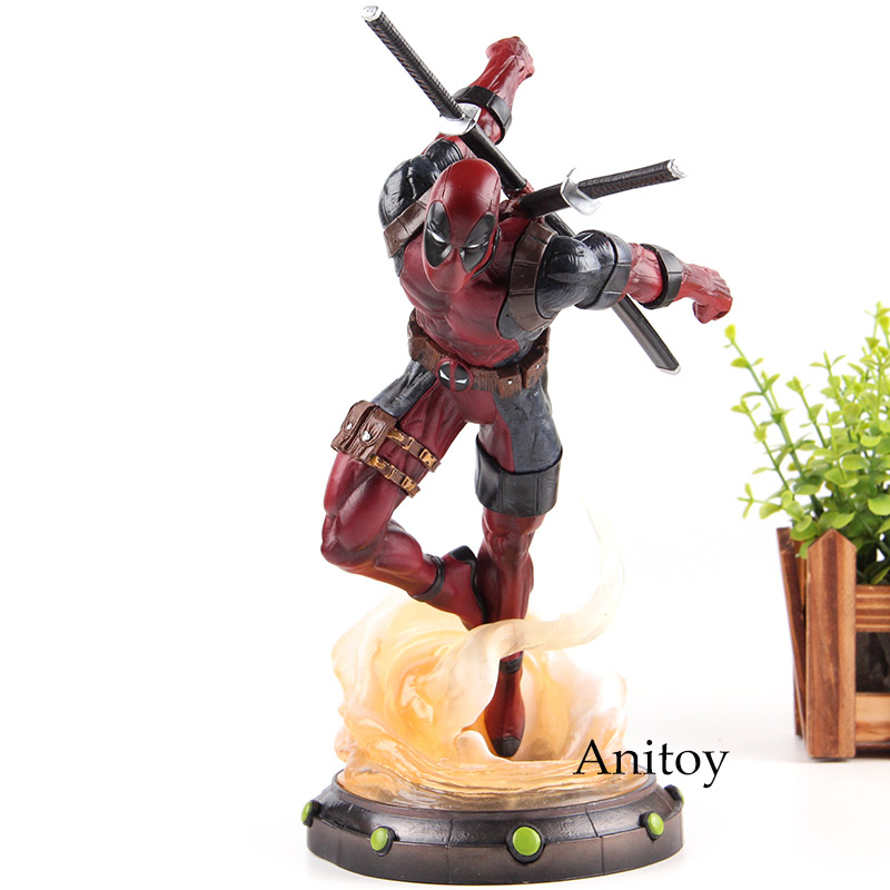 Action Figure Marvel Deadpool Figure PVC Anime Deadpool Comics Figurines Collection Model Toys for Boy Gifts 24cm marvel universe action figure deadpool breaking the fourth wall blam pvc good smile company deadpool toys for boys