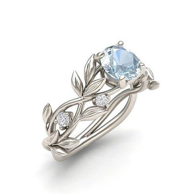 LNRRABC Flowers Finger Rings Stainless Steel Rings For Women Crystal Middle Ring