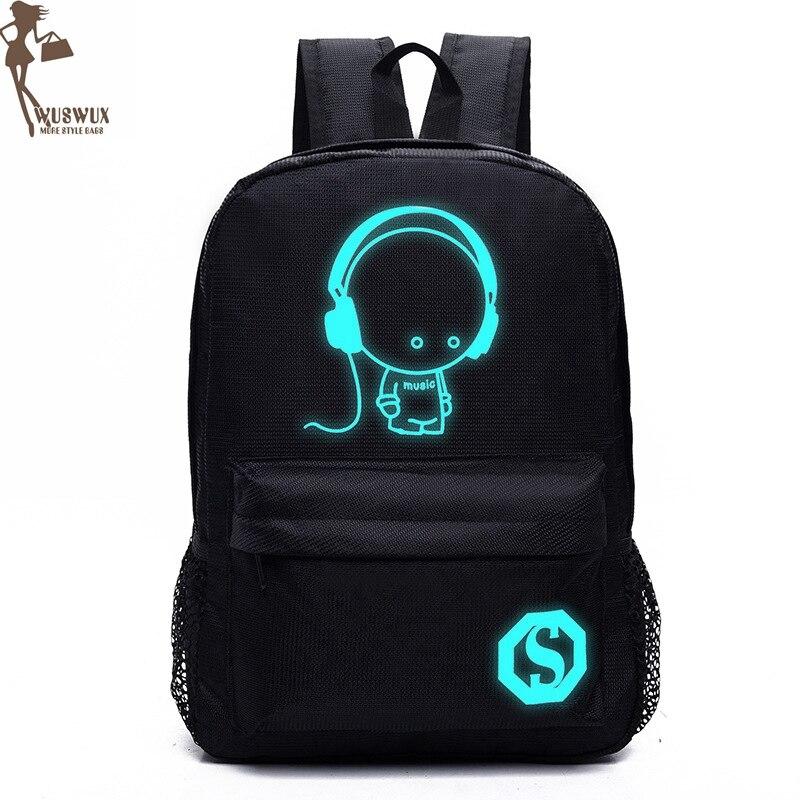 Backpacks New Fashion Waterproof Nylon Luminous Backpack Unisex Large Capacity Travel Casual Laptop Backpack