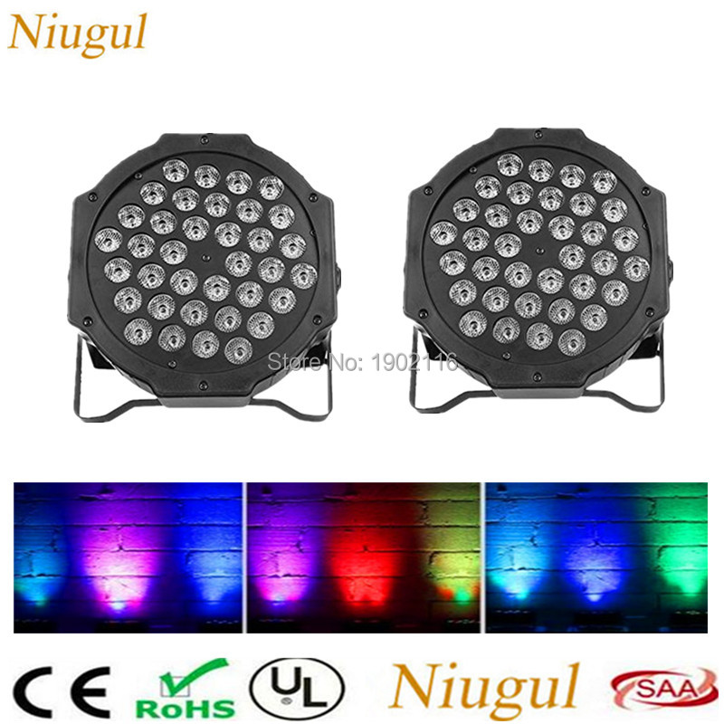 2pcs/lot RGB Stage Light 36 LEDS PAR Light Disco DJ Lighting Club Party light LED Strobe AC110-220V EU US Plug wedding Xmas lamp ac 110 240v 50 60hz full color rgb laser stage lighting red green blue led dj disco party home wedding club light us
