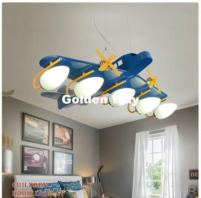 L95cm W75cm Flugzeug Pendelleuchte Schlafzimmer Cartoon LED ...