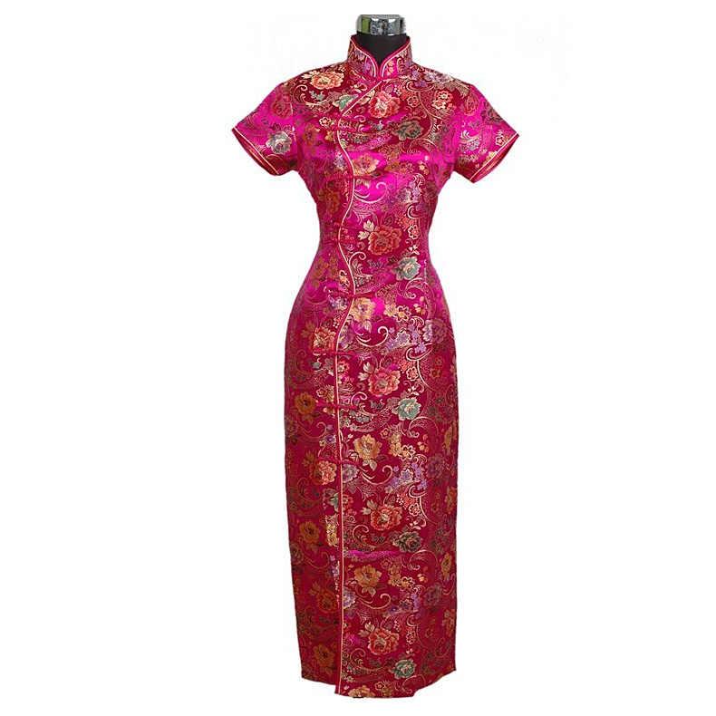 Vestido largo tradicional chino para mujer Qipao cheong-sam vestido de noche de boda talla S M L XL XXL XXXL C0001