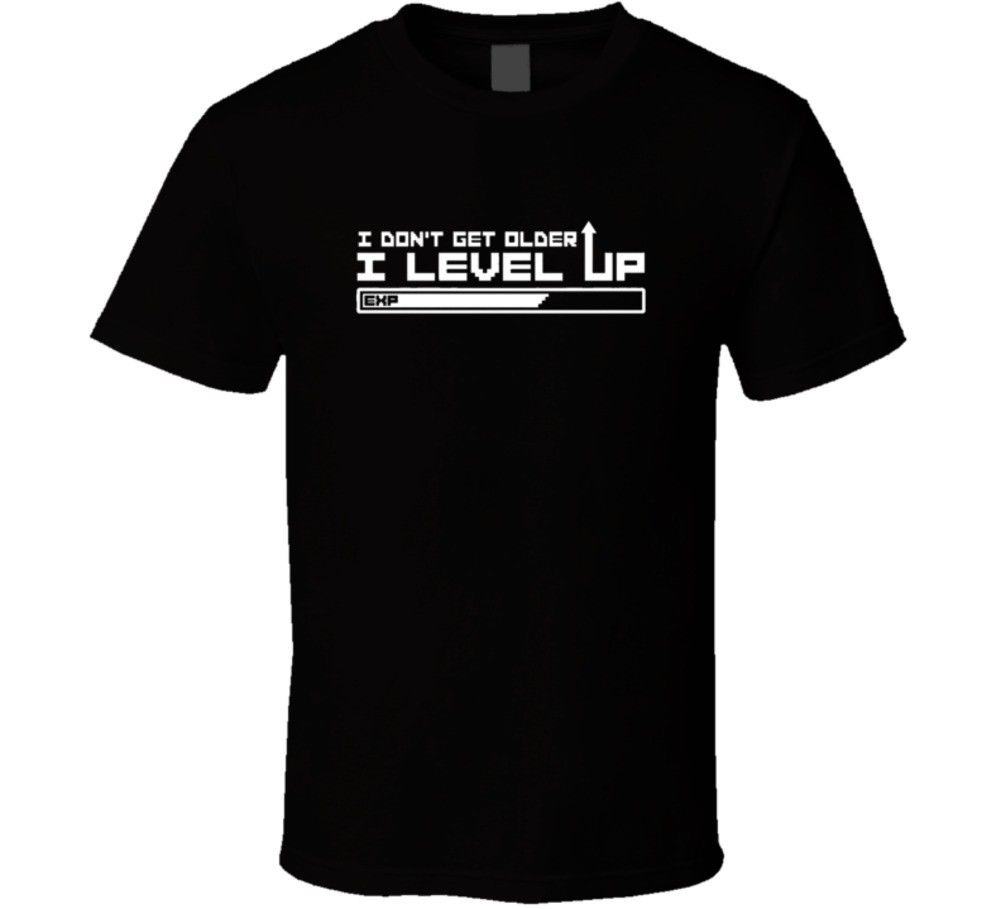 Epic Final Fantasy Style RPG Level Up Birthday Funny Joke T Shirt Cool Casual pride t shirt men Unisex New Fashion tshirt image