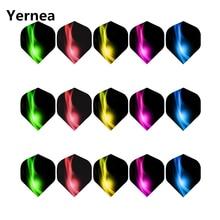 Yernea New Darts Flight 15Pcs/5set Professional 2D Dart Color Aurora Tail Accessories Wholesale