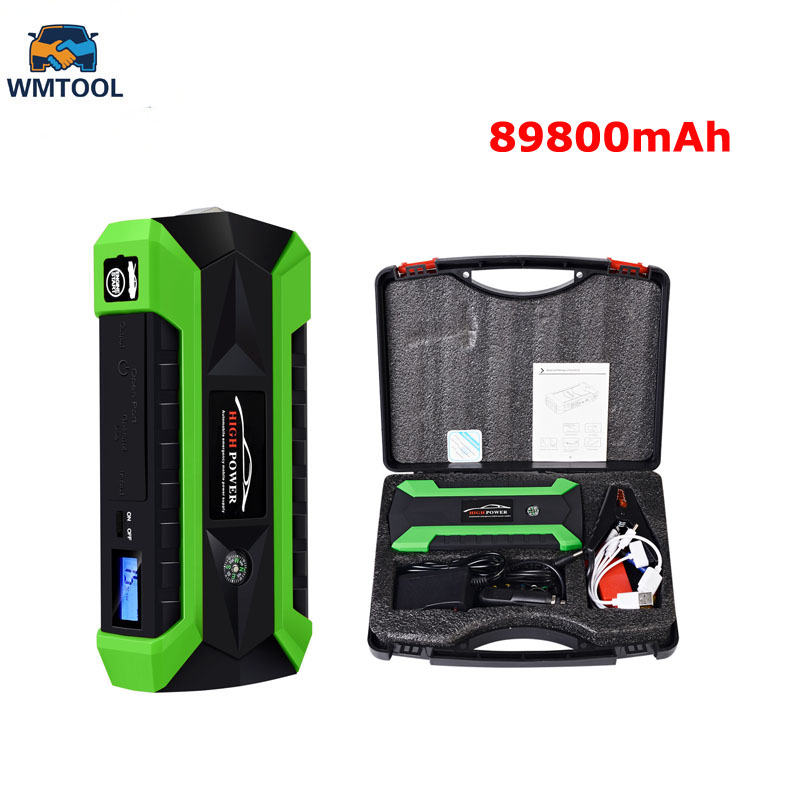 New 89800mWh Car Jump Starter for Petrol Car Battery Charger Emergency 60C Discharge Auto Starting High Power Pack Bank 2016 new cp10 30000mah auto start emergency high capacity power supply car charger pack vehicle jump starter