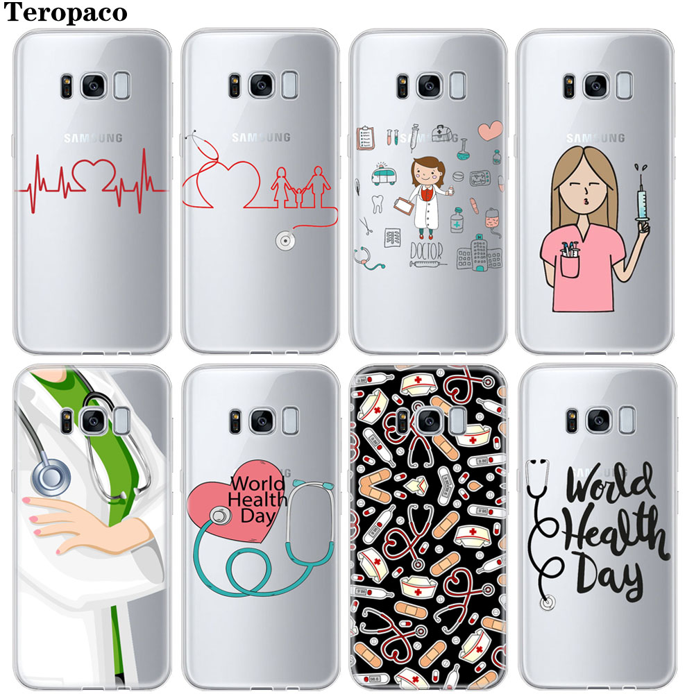 Phone Bags & Cases Half-wrapped Case Practical Maiyaca Nurse Doctor Dentist Stethoscope Tooth Injections Soft Phone Case For Samsung Galaxy S7 S6 Edge Plus S5 S9 S8 Plus Case