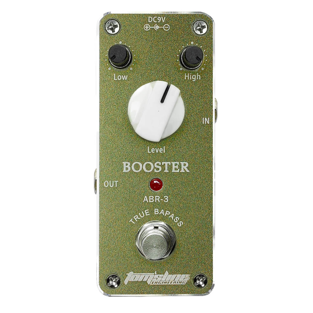 Tomsline ABR-3 Booster guitar effect pedal Mini Analogue Effect True Bypass AROMA mooer ensemble queen bass chorus effect pedal mini guitar effects true bypass with free connector and footswitch topper
